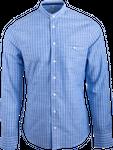 Gweih&Silk Herren Hemd Wolfgangsee blau 001