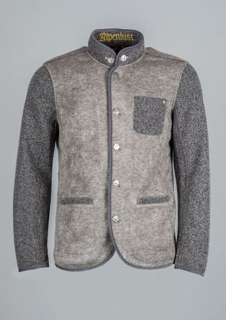Northland Herren Wollfleece Jacke Vitus 08861 steel grey