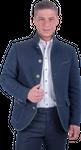 Kaiseralm Herren Janker Anif 5318 blau 001