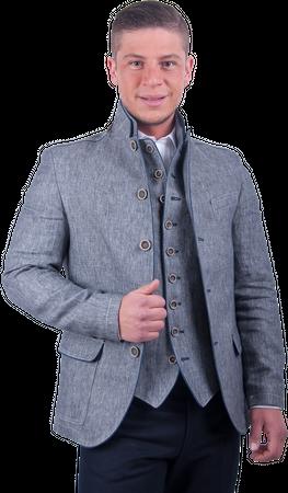 Kaiseralm Herren Janker Arno 5406 grau