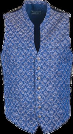 Kaiseralm Herren Weste Bogen 5459 blau
