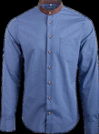 Gweih&Silk Herren Hemd Staffelsee 07191 blau