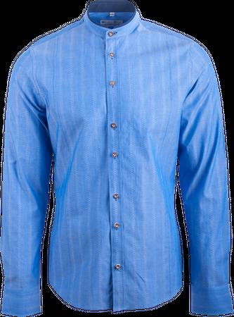 Gweih&Silk Herren Hemd Almsee 03191 blau