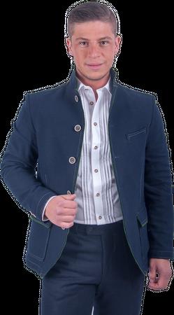 Kaiseralm Herren Janker Anif 5419 dunkelblau