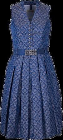 Kaiseralm Damen Dirndl Kaja 5459 blau