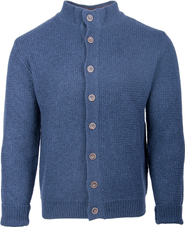 Gweih&Silk Herren Strickjacke 9334 Blau