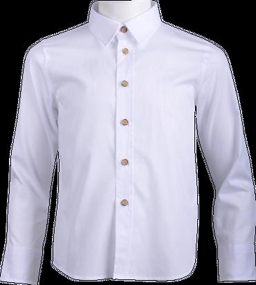 Gweih&Silk Kinder Hemd Felix weiss