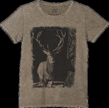 Vronikaa Herren T-Shirt Hirsch Sand