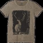 Vronikaa Herren T-Shirt Hirsch Sand 001