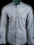 Kaiseralm Herren Hemd Horn 8402 grün mit weißem Muster 001
