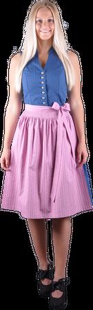 Kaiseralm Damen Dirndl Dalis 9425 blau/rosa