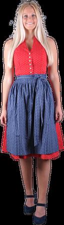 Kaiseralm Damen Dirndl Dalis 9425 rot/dunkelblau