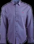 Gweih&Silk Herren Hemd GS07-172 mit blau-rotem Muster 001