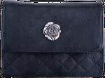 Damen Trachten Tasche 2056 schwarz/Rose 001