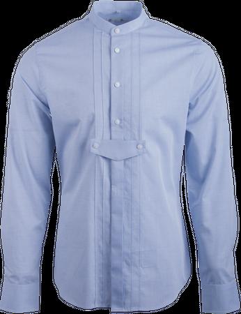 Gweih&Silk Herren Hemd GS05 172 blau