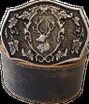 Der Trachtler Leder Gürtel 23813/40 dunkelbraun - Schließe in altsilber und bronze 001