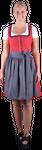 Almzauber Damen Dirndl Paula 8324 rot/grau 001