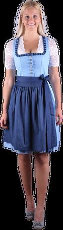 Almzauber Damen Dirndl Paula 8324 hellblau/dunkelblau