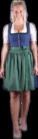 Almzauber Damen Dirndl Paula 8324 dunkelblau/grün