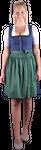 Almzauber Damen Dirndl Paula 8324 dunkelblau/grün 001