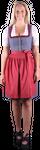 Almzauber Damen Dirndl Paula 8324 grau/rot 001