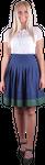 Almzauber Damen Rock Flora 8324 dunkelblau/grün 001