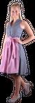 Almzauber Damen Dirndl Larissa 8335 grau/rosa 001