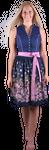 Almzauber Damen Dirndl Larissa 8332 blau/Blumen 001