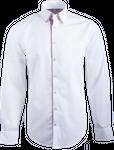 Gweih&Silk Herren Hemd GS02a weiss/rot 001
