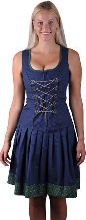 Almzauber Damen Mieder Polly 8324 dunkelblau/grün