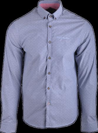 Northland Herren Hemd Vitus 08864 grau-blau