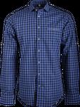 Gweih&Silk Herren Hemd karo Guschtl blau  001