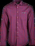 Gweih&Silk Herren Hemd karo Guschtl rot 001