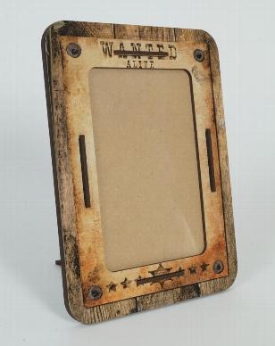"Fotorahmen ""Wanted"" aus MDF, used look, 18 x 1 x 23 cm"