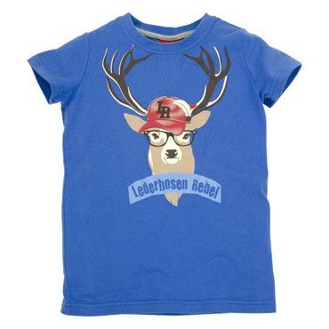 """T-Shirt """"Hirsch"""" bavarian blue"""