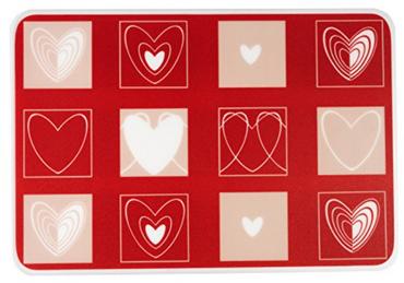 Tischset Platzmatten Abwischbar Animo Weiß -Rot, mit Herzen, Ritzenhoff & Breker