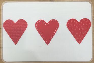 Tischset Platzmatten Abwischbar Big Heart Weiß/Rot m. Herzen, Ritenhoff & Breker