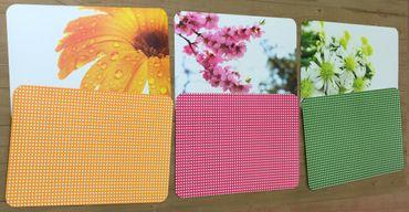 Platzmatte, Platzset, Tischset Wendematte Ritzenhoff Blume in Orange, Grün, Pink