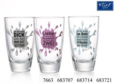Ritzenhoff & Breker Longdrinkgläser Splash 35 CL mit lustigen Sprüchen