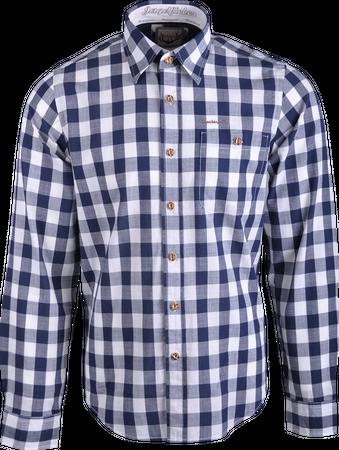 Stockerpoint Herren Trachten Hemd Dean ws/blau kariert