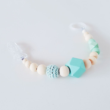 SCHNULLERKETTE -LITTLE MUCK- Babygeschenk-mint