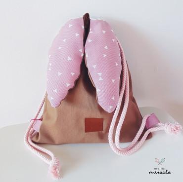 Kinderrucksack -LITTLE BUNNY BAG- rosa – Bild 1