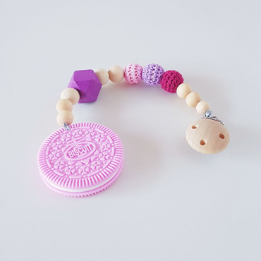 Greif-/Beißkette Mädchen rosa -LITTLE COOKIE- rosa