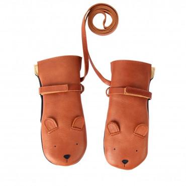 Donsje Leder Handschuhe Bear -KAPI MITTENS- – Bild 1