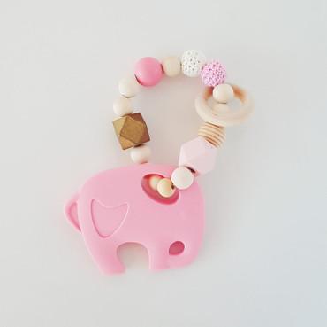 Beißring Mädchen rosa -LITTLE ELLI-