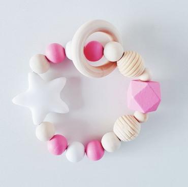 Beißring Mädchen rosa -LITTLE STAR-