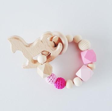 Greifling Mädchen pink -LITTLE ROCKY- Beißring