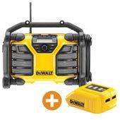 DeWalt Akku-Radio DCR017 + USB-Adapter 001