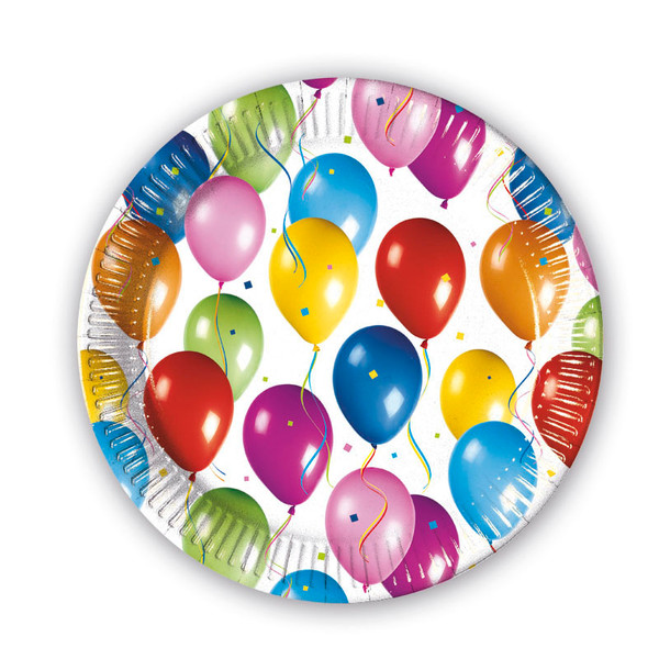 Balloons Fiesta - 10 Pappteller Medium 20cm