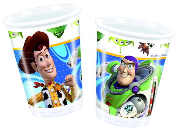 Toy Story Star Power - 10 Plastikbecher 200 ml